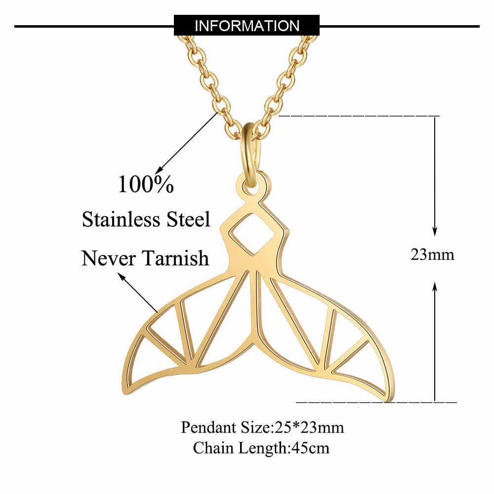 100% ze stali nierdzewnej syrenka ogon moda naszyjnik dla kobiet hurtownie unikalny projekt wisiorek naszyjniki kobiece Trendy biżuteria