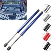 1 par de elevador da capa dianteira do automóvel suporta suportes de choques de gás carregados para nissan murano (z51) fechado veículo fora de estrada 2008/10 380mm|Barras de suspensão| |  -