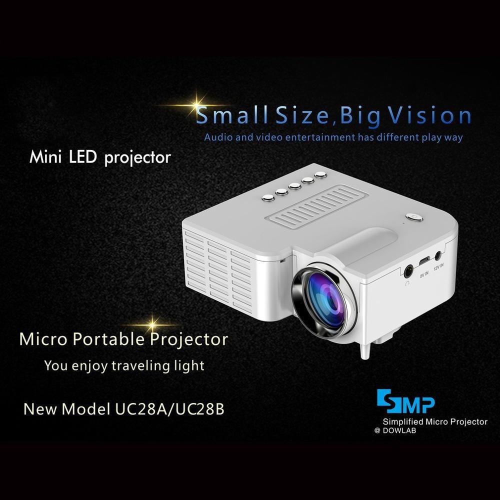 UC28B+ Home Projector Mini Miniature Portable 1080P HD Projection Mini LED Projector For Home Theater Entertainment