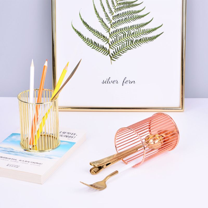 Round Stick Cylinder Pen Pencil Collection Holder Makeup Brushes Storage Tool Home Office Desk Organizer AXYF