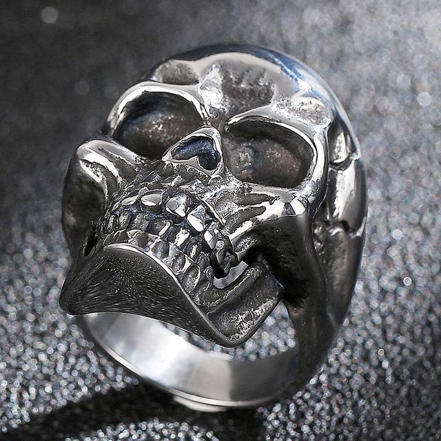 STAINLESS STEEL DEATH HEAD SKULL RING