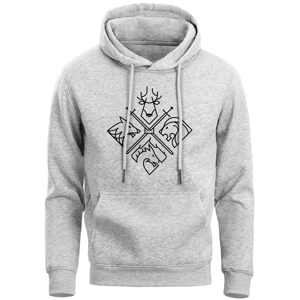 Game Of Thrones Hoodies Sweatshirts Men House Stark Targaryen Wolf Lion Dragon Men'S Hoodie 2019 Spring Autumn Fleece Pollovers