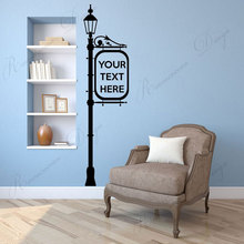 wall stickers school classroom quote phrase lettering words vinyl decals read room decor dorm removable murals wallpaper 4335 Lamp Post & Sign With Personalised Text, Quote Or Words Wall Sticker Vinyl Home Decor Room Art Decals Removable Murals 4307