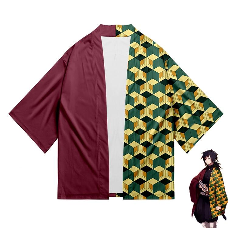 3D Kimonos Japanese Woman Kimono Anime Demon Slayer Same Kimono Cosplay Cardigan Couple Kimono Yukata Summer Fall Orient Kimonos