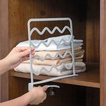 Closets Shelf Dividers Organizer Adjustable Wardrobe Partition Kitchen Cabinets Closet Clothes Divider Organizer Home Decor Hook