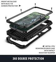 Custodia protettiva in metallo con protezione dello schermo integrata per iPhone 12 Pro Max Mini 11 custodia antiurto e lussuosa per telefono Fundas Coque