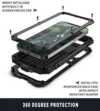 جراب حماية كامل لهاتف iPhone 12 Pro Max ، درع معدني ، فاخر ، مقاوم للصدمات ، 360