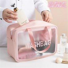 S/m/l 3 tamanhos senhoras grande capacidade do plutônio fosco à prova dwaterproof água saco cosmético conveniente saco de armazenamento de maquiagem de viagem saco de lavagem feminino