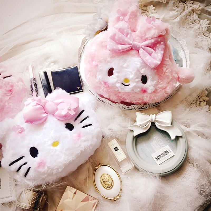 Pink Girl Hello Kitty Sakura Kitty Makeup Bag Storage Bag Make Up Bags Cosmetic Case