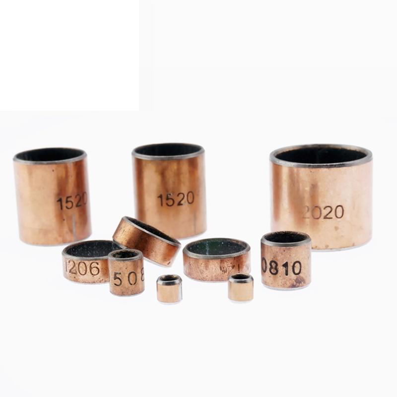 5PCS Inner Diameter 14 15 16 17mm SF-1 Self-lubricating Bearing Oilless Bushing Sleeve Heigh 10-25mm