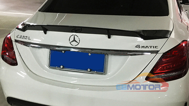 Real Carbon Fiber Tail Trunk Lid Spoiler for Mercedes Benz W205 Sedan 4D 15-16 M123 3