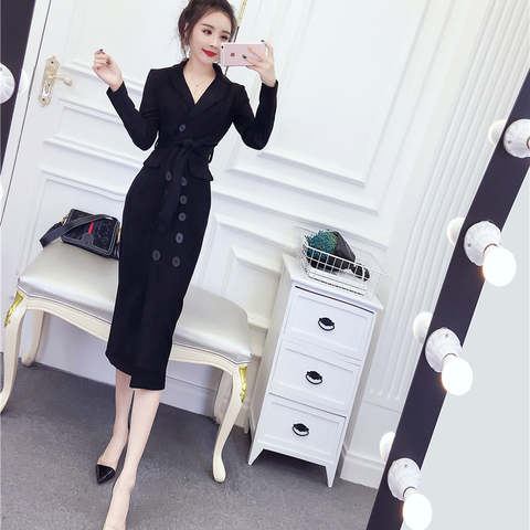 Women Long Faux PU Leather Suede Jacket With Belted 2019 New Fashion Ladies Elegant  Coats Trench Female Outerwear Multan