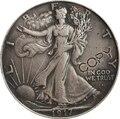 1917  P D S идущая Свобода Половина копия доллара монеты