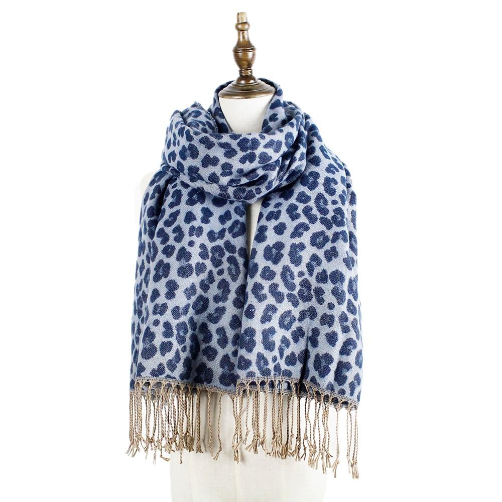 leopardí šála zimní módní kašmírové šály ženy střapce zábaly echarpe ukradli teplý šátek leopardí cashmere šátek dárky