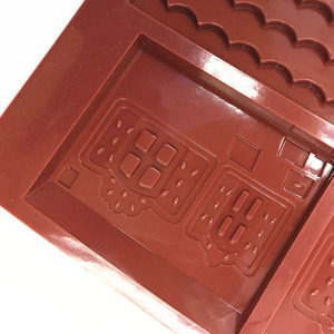 Image 3 - 2 Pcs/Set 3D Christmas Gingerbread House Silicone Mold Chocolate Cake Mould Kitchen DIY Biscuits Cake Baking Tools 22x16cm