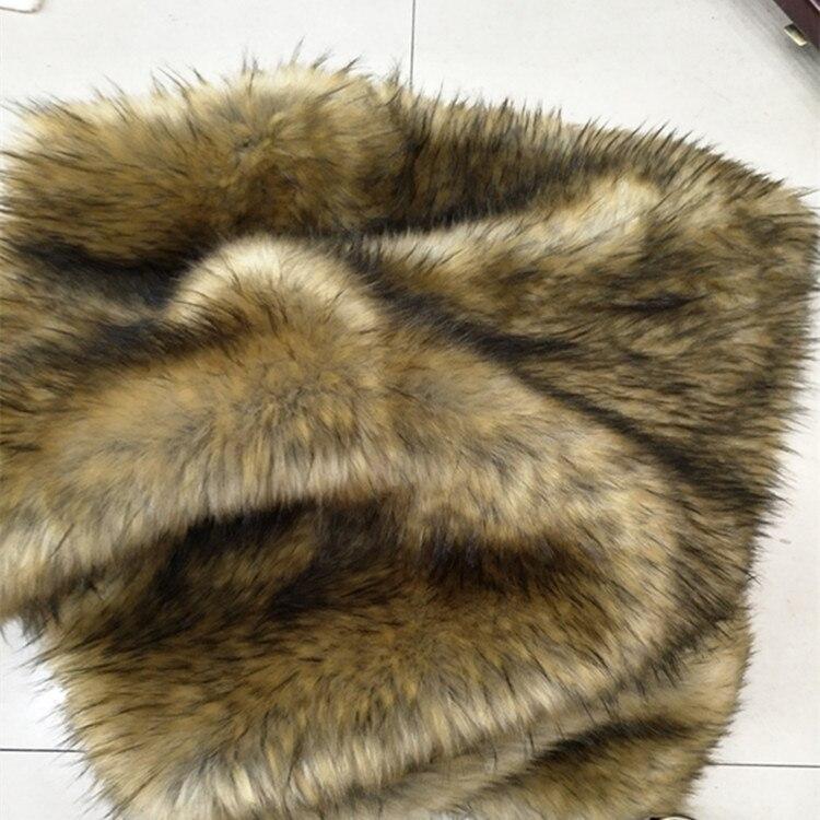 Jacquard raton laveur cheveux fourrure artificielle faux (2800g/cardigans) (80% acrylique + 20% polyester)