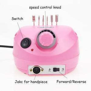 Image 4 - Pro Electric Nail Drill Machine Acrylic 19.5W 35000RPM Nail File Drill Manicure Pedicure Kit Nail Art Equipment