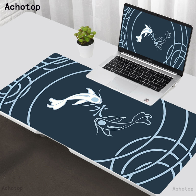 Abstract Art Fish 80x30cm XXL Large Gaming Mouse Pad Computer Gamer Keyboard Mouse Mat Hyper Beast Desk Mousepad for PC Desk Pad