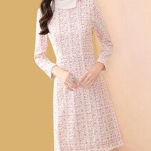 Only Plus 2020 New Tweed Dress Women Spring Vintage