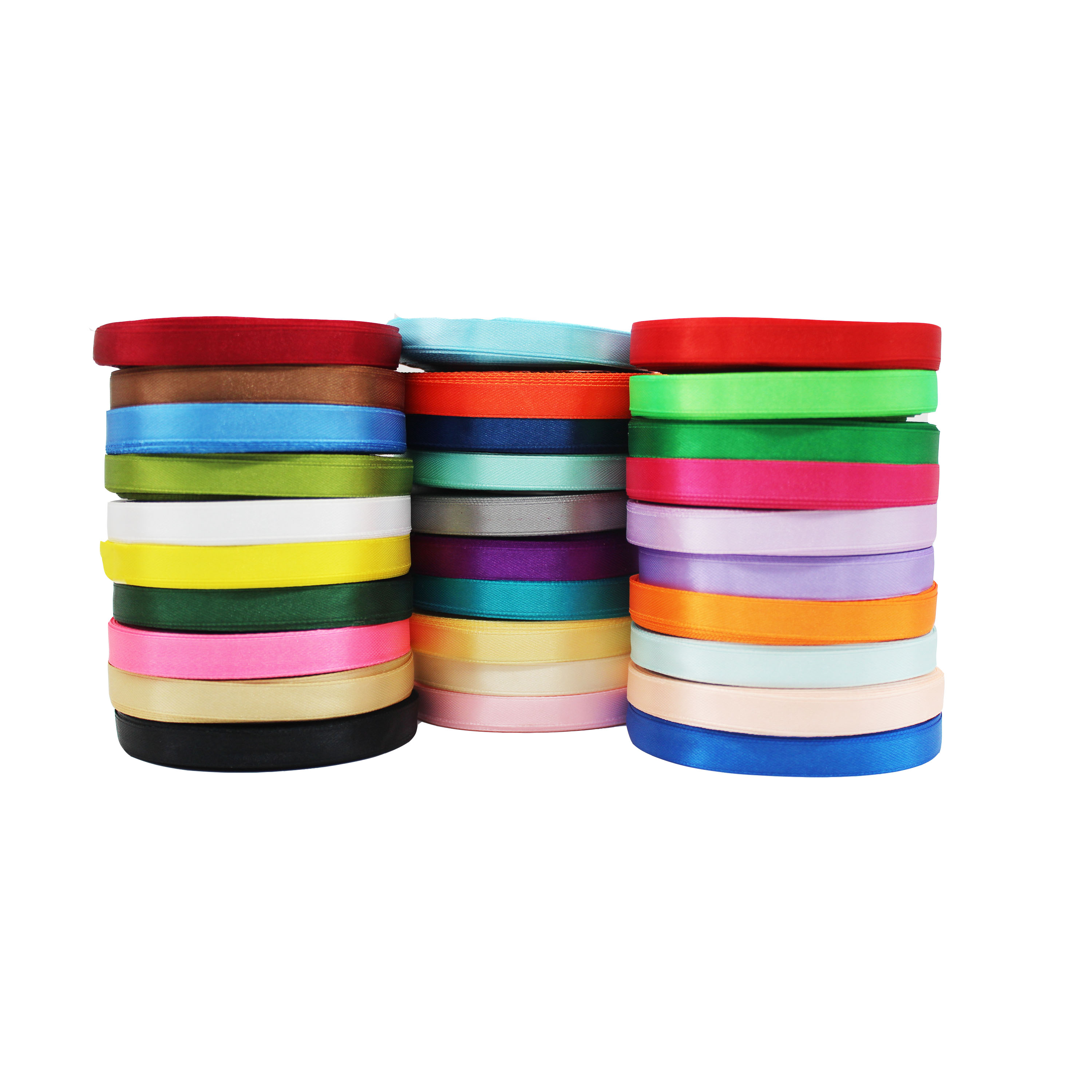 20 x 1m lengths of Mixed PLAIN Christmas Ribbons ~ 3mm-40mm wide ~ Top Quality