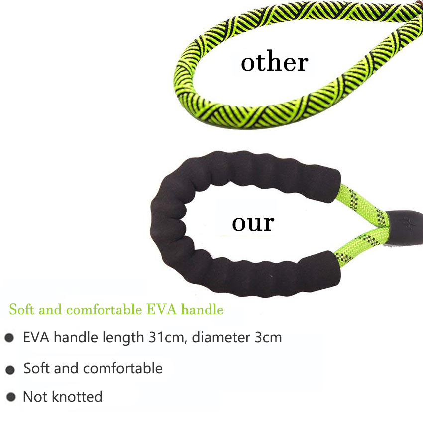 Large Dog Reflective Rope Durable Large Dog Leash Walking Big Dog Collar Strengthen Traction Harness Round Nylon Medium Dog Lead