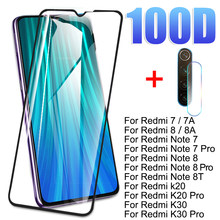 2 in 1 Camera Lens Tempered Glass For Redmi Note 8 7 Pro 8T Screen Protector For Xiaomi Redmi 7 7A 8 8A K20 K30 Pro Glass Film(China)