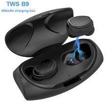 Nuevos auriculares inalámbricos Bluetooth 5,0 TWS Bluetooth manos libres Bluetooth Mini auriculares intraurales para deportes correr/juegos