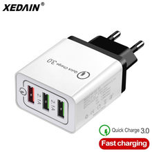 Good EU/US Phone Fast USB Charger High Quality Plug 3 Ports Quick Charger QC 3.0 3A 18W For Apple Samsung Huawei Xiaomi iphone X(China)