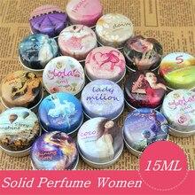 1pc Eau De Parfum 15g Women Soild Perfume Feminino Portable Box Flower Fruit Fragrance
