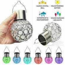 Hanging-Ball-Lights Solar-Energy-Lights Solar-Lamp Garden-Decoration Led Outdoor Crystal