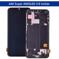 Original SUPER AMOLED Display For SAMSUNG GALAXY A40 LCD 2019 A405 Touch Screen Digitizer Assembly A40 LCD replacement repair