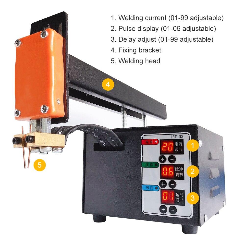 Tools : JST-IIS Spot Welding Machine High Power 3KW Use For 18650Lithium Batteries Pack Spot Welding Precision Pulse Spot Welder Machine