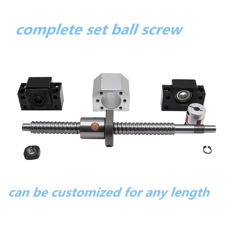 Fast Deliver Ball Screw Set 2005/2010/2505/2510/3205/3210 With Nut +support+nut Holder+coupling For CNC