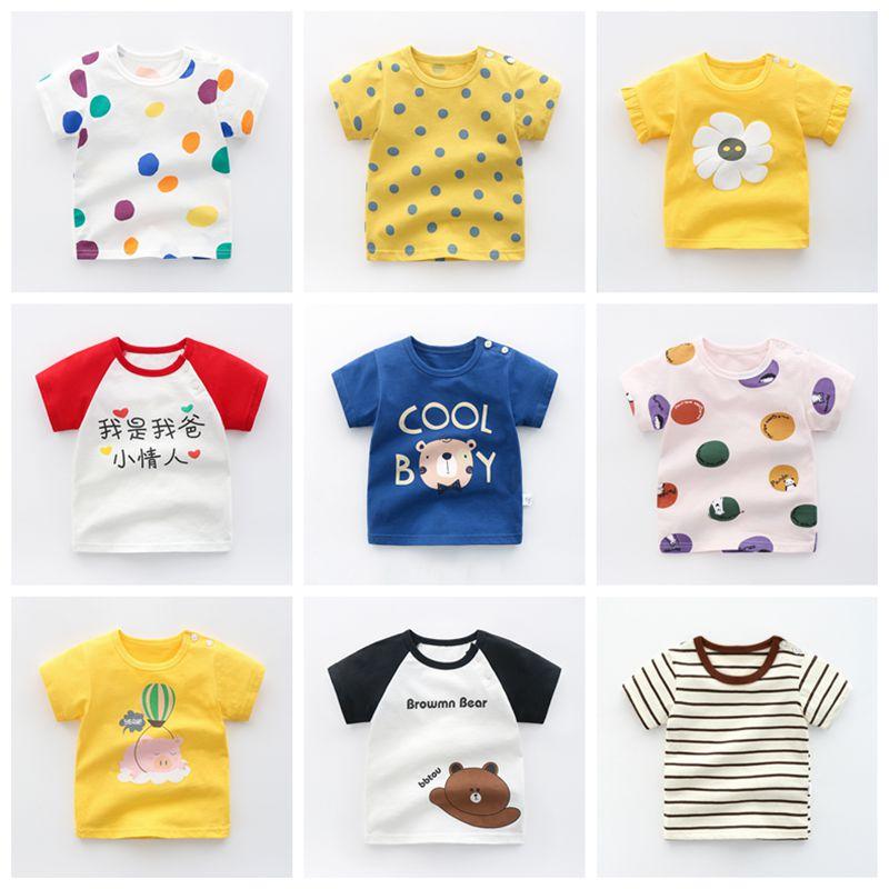 Summer Children's Wear Baby Kids T Shirts Girls Boys Clothes Tshirt Cotton Cartoon Printing Tops T-shirt Children Clothing-0