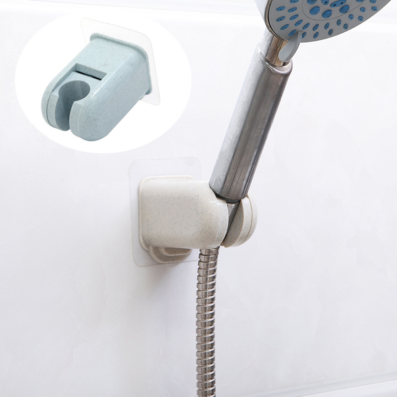 Adjustable Shower Head Holder Bathroom Self-adhesive Shower Bracket Rack ABS Shower Holder Bracket Drill-free Bathroom Accessory