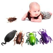 Novo truque eletrônico-jogar brinquedo simulação elétrica inseto crawl vibração brinquedos inseto brinquedo barata mouse beetle brinquedo