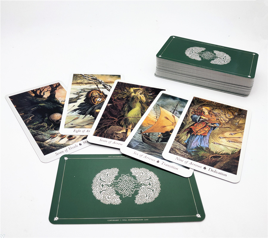 2019 New English Board Game tarot cards Wild Wood Tarot Family Entertainment kids toys 78 cards/set Deck And Guidebook 1