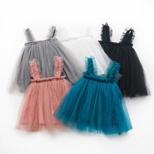 Детская одежда, платье для девочек, новое модное платье для маленьких девочек с принтом абстрактных для девочек 2021 пляжное Открытое платье ...