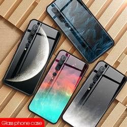 Funda de vidrio templado brillante para teléfono Xiaomi, carcasa trasera rosa para Xiaomi Redmi Note 9 Pro Max Poco X3 NFC Mi Note 10 Mi10 Pro Mi 10 Lite
