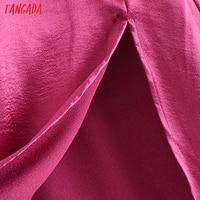 Tangada Women's Party Dress Satin Midi Dress Strap Adjust Sleeveless 2021 Fashion Lady Elegant Dresses QN42 4
