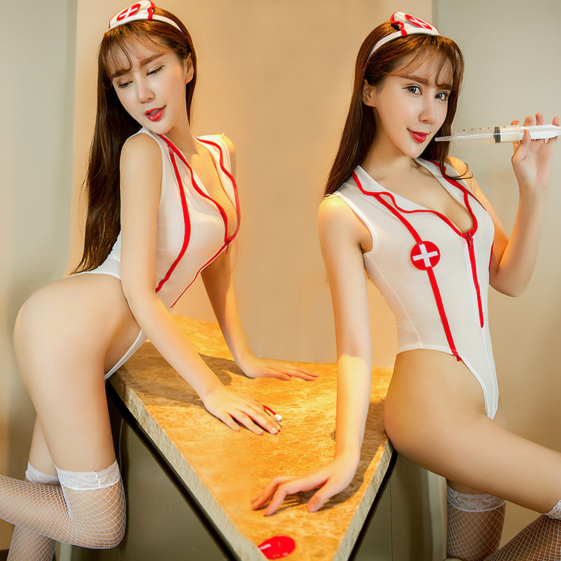 <font><b>Cosplay</b></font> Adult Uniform <font><b>Cute</b></font> Nurse Suit <font><b>Sexy</b></font> Lingerie <font><b>Sexy</b></font> Temptation Japanese Lingerie Nurse <font><b>Cosplay</b></font> Meethope image