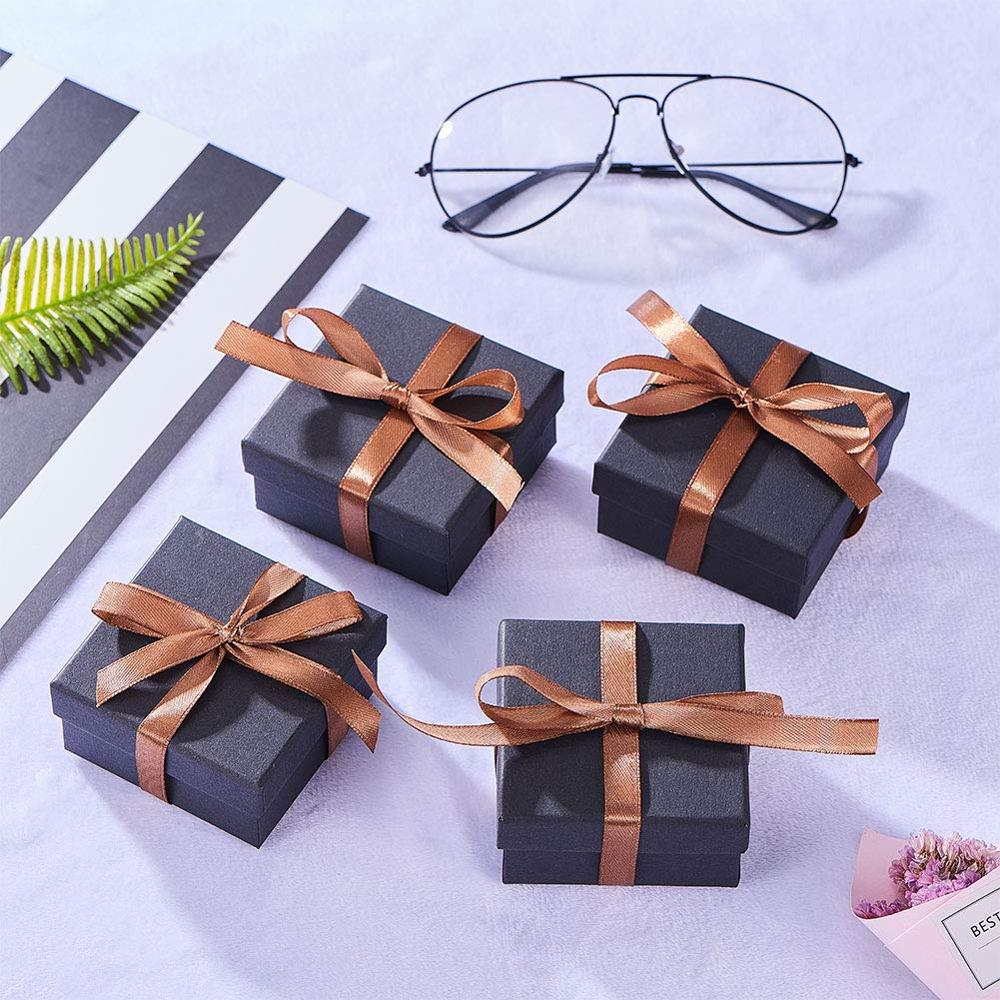 18pc Pendant Jewelry Boxes for Earring Gift Boxes Black Jewelry Box for Earrings