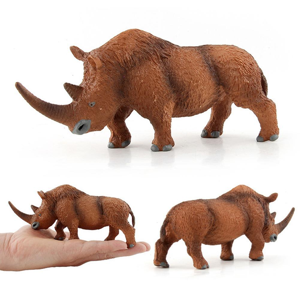 Woolly Rhinoceros Figure Animal Toy Safe Simulation Coelodonta Rhino Model Collector Kids Gift Child Educational Toys image
