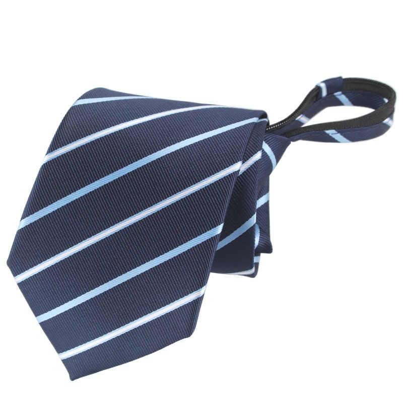 メンズ 8 センチメートルジッパーネクタイのファッションビジネスカジュアルシリーズ事前縛らネクタイネクタイ男性用ストライプネクタイ無地ネクタイ