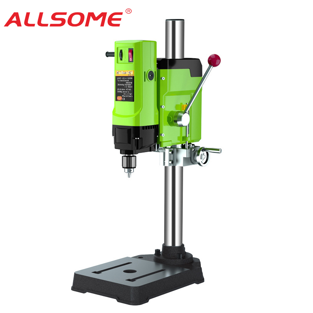 ALLSOME Mini Bench Drill Bench Drilling Machine Variable Speed Drilling Chuck 1-16mm For DIY Wood Metal Electric Tools
