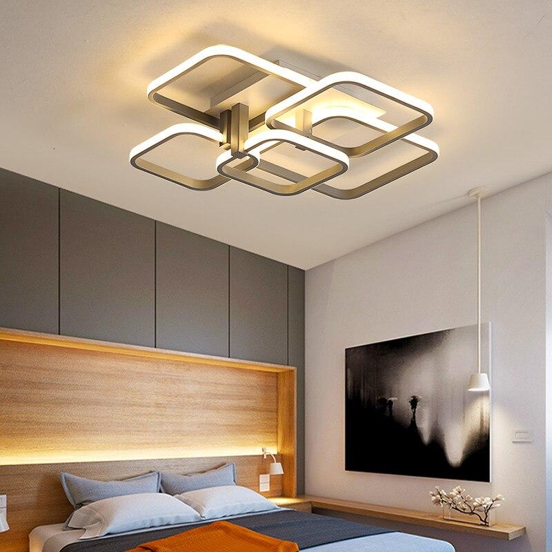 Gray/White/Black Modern led chandelier lights for Bed room Living room lustre led Creative led chandelier lighting lampara techo