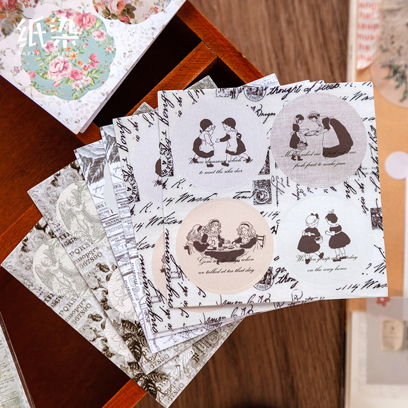 Romantic Series Sticker Scrapbooking Kawaii DIY Bullet Journal Decorative Adhesive Paper Sticker Seal Label Stationery Supplies