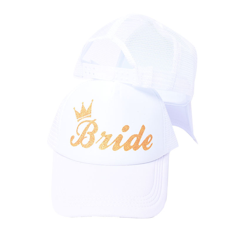 Team Bride To Be Hat Wedding Decoration Baseball Cap Bridal Shower Hen Night Party Decor Bachelorette Party Accessories Supplies