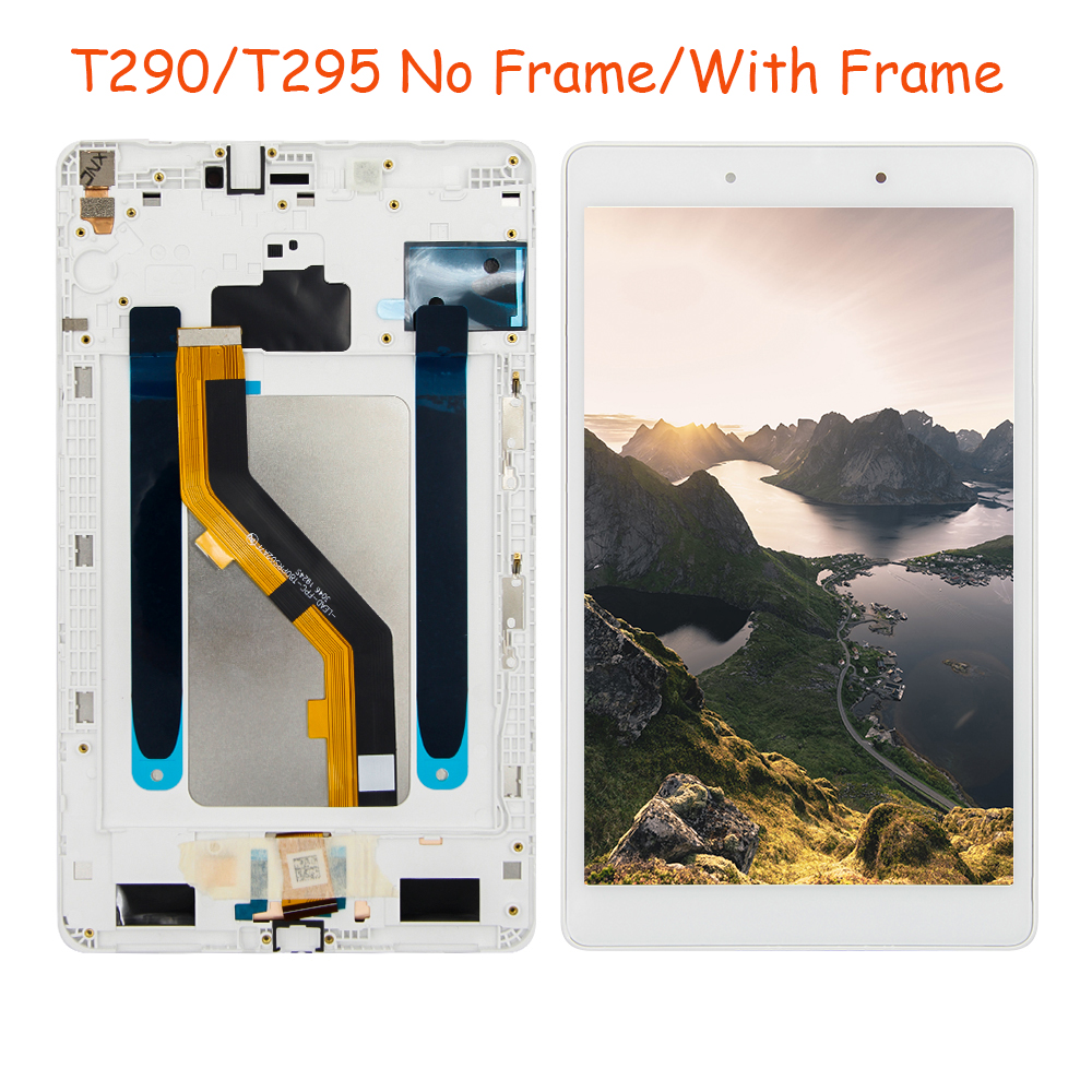 Lcd For Samsung Galaxy Tab A 8.0'' SM-T290, T295, SM-T295C LCD Display, Digitizer Screen Touch Panel Sensor Assembly, Free Tools