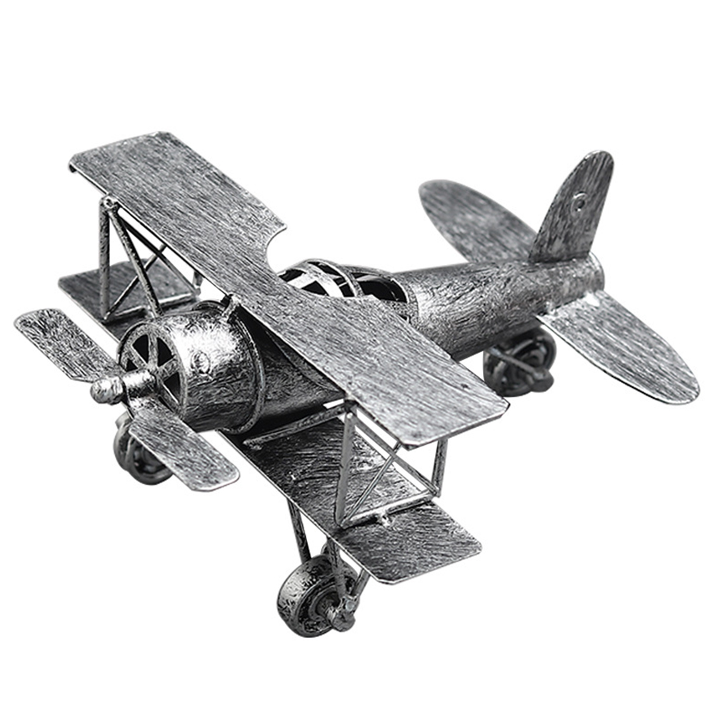 TV Retro Vintage Living Room Toy Glider Iron Ornament Kids Gift Cabinet Decoration Airplane Model Home Bomber Fighter image
